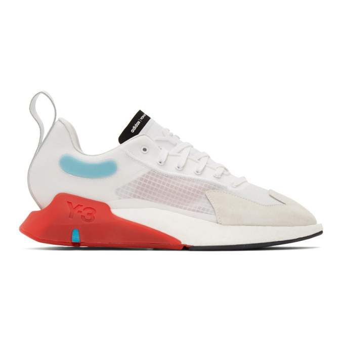 Photo: Y-3 White and Red Orisan Sneakers
