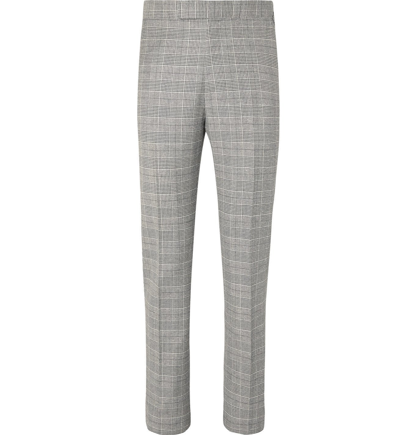 Photo: Kingsman - Arthur Harrison Slim-Fit Prince of Wales Checked Suit Trousers - Black