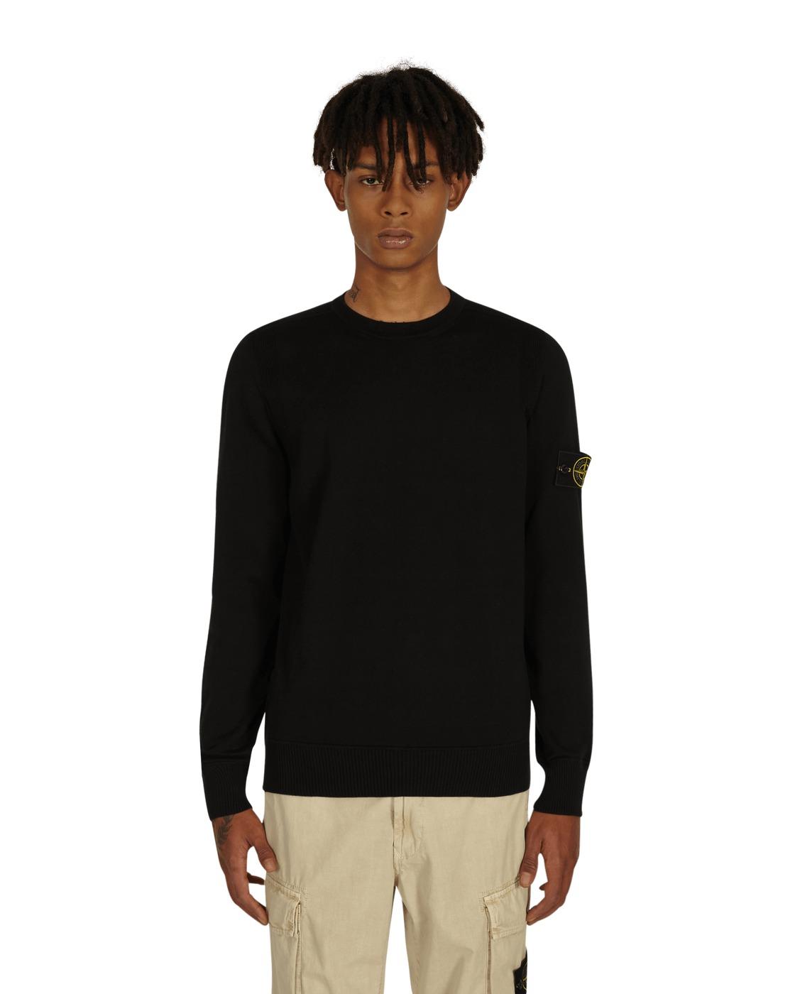Stone Island Basic Crewneck Sweater Black