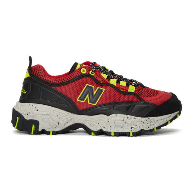 Photo: New Balance Red and Black 801 Sneakers