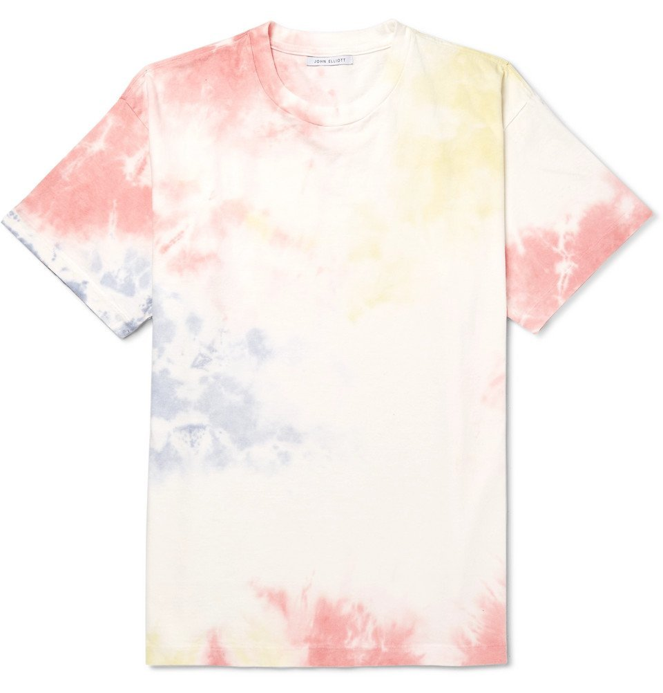 Photo: John Elliott - University Oversized Tie-Dyed Cotton-Jersey T-Shirt - White