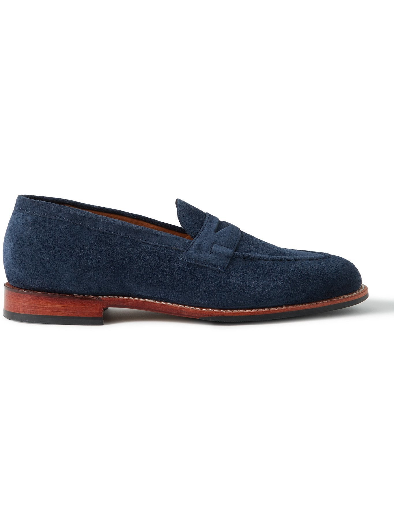 Photo: GRENSON - Lloyd Suede Penny Loafers - Blue