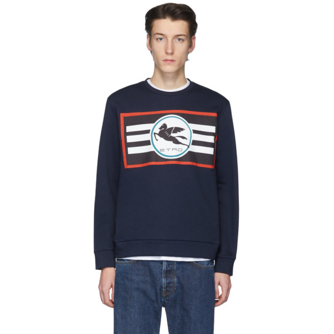 Photo: Etro Navy Pegaso Sweatshirt