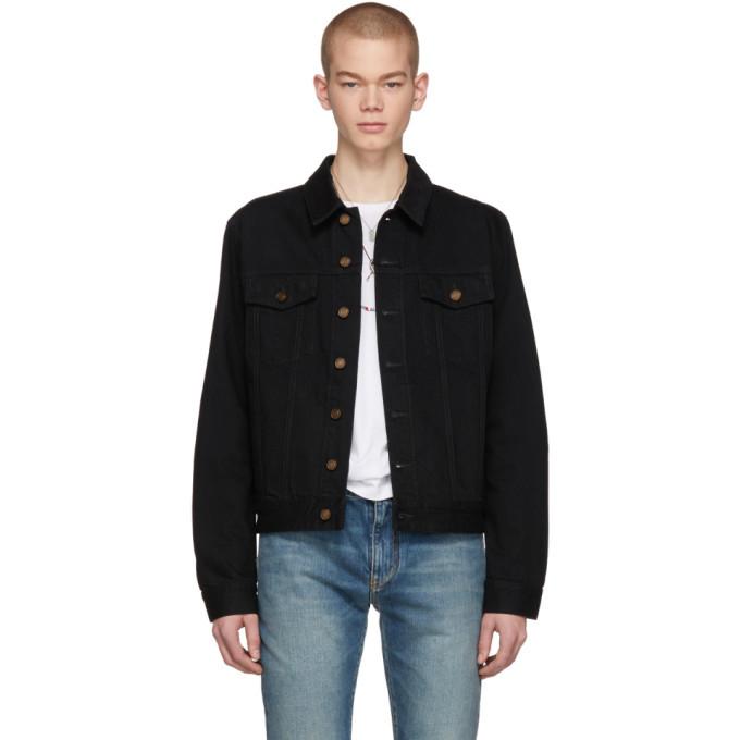 Photo: Saint Laurent Black Denim Jacket