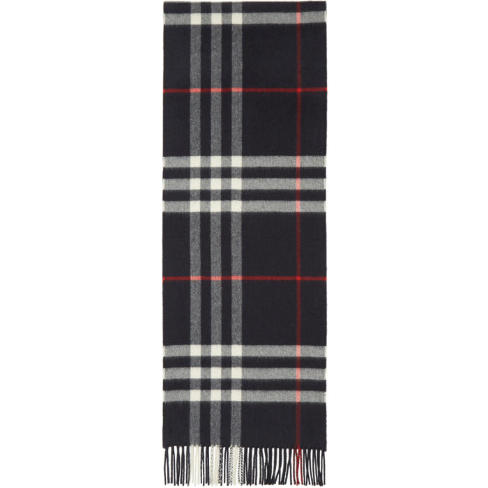 Photo: Burberry Navy Giant Check Scarf