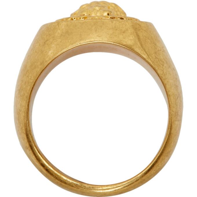 Versace SSENSE Exclusive Gold Medusa Laurel Ring