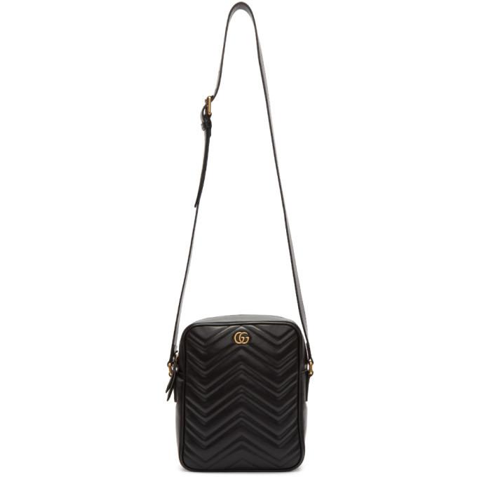 Photo: Gucci Black GG Marmont Messenger Bag