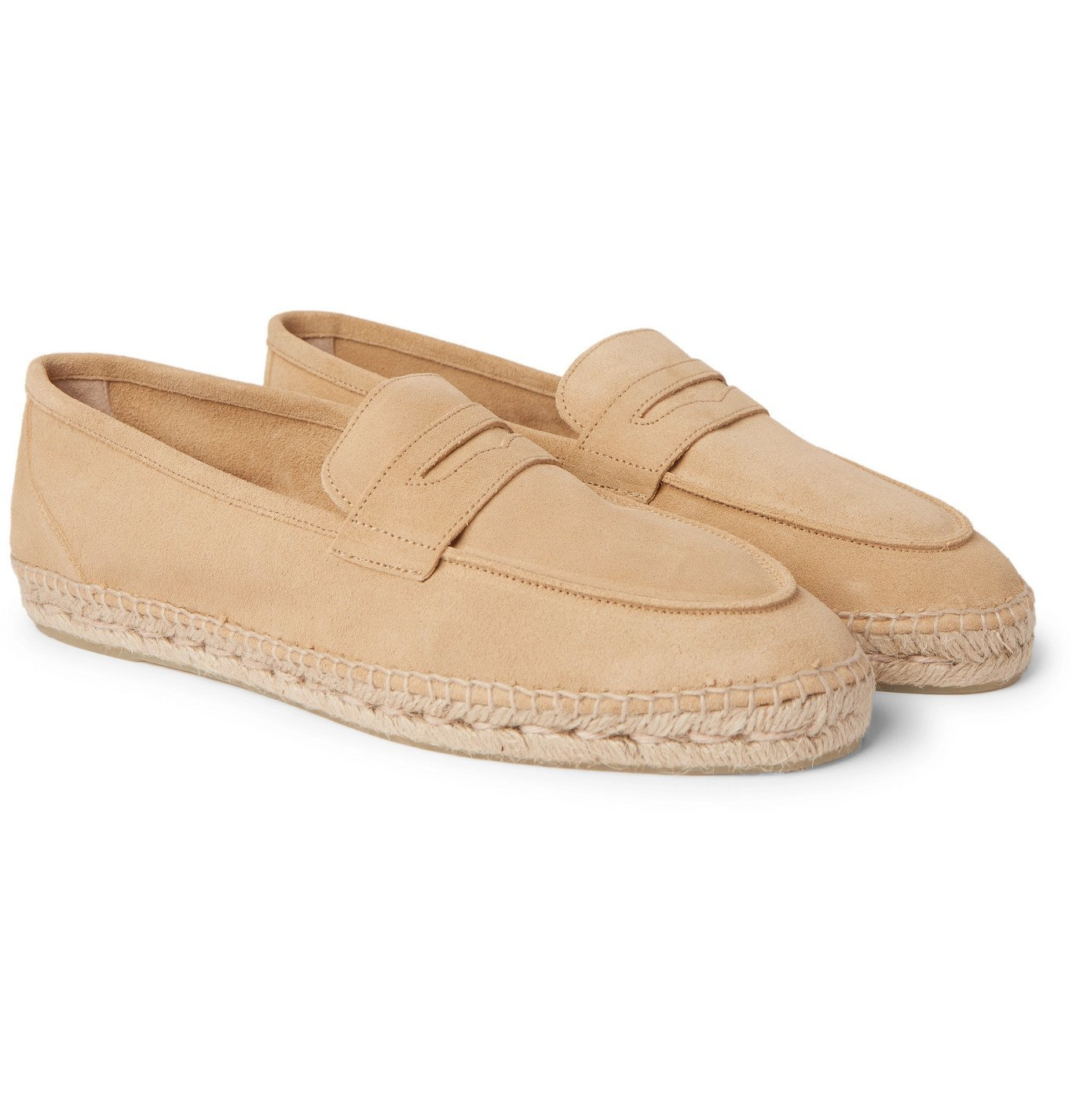 Photo: Castañer - Nacho Suede Espadrille Loafers - Neutrals