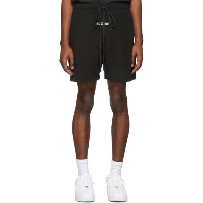 Photo: Essentials Black Polar Fleece Shorts