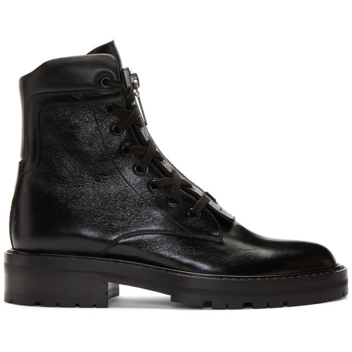 Photo: Saint Laurent Black William Front Zip Boots