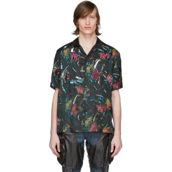 Photo: Dries Van Noten Black Floral Shirt