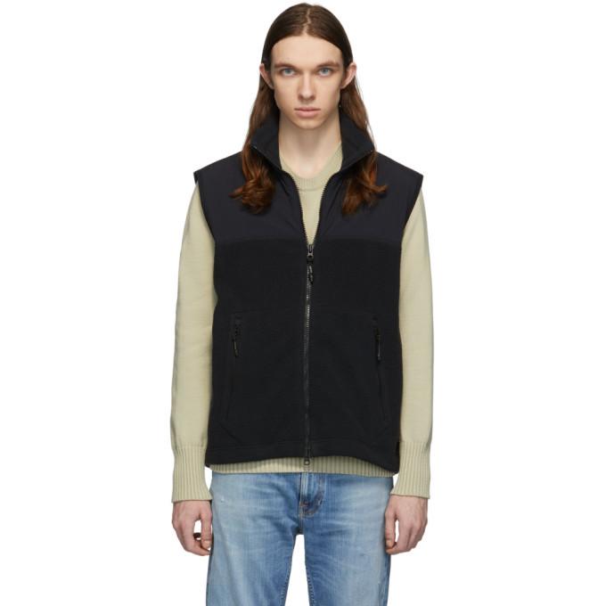 Photo: The Very Warm Black Fleece Zip Vest