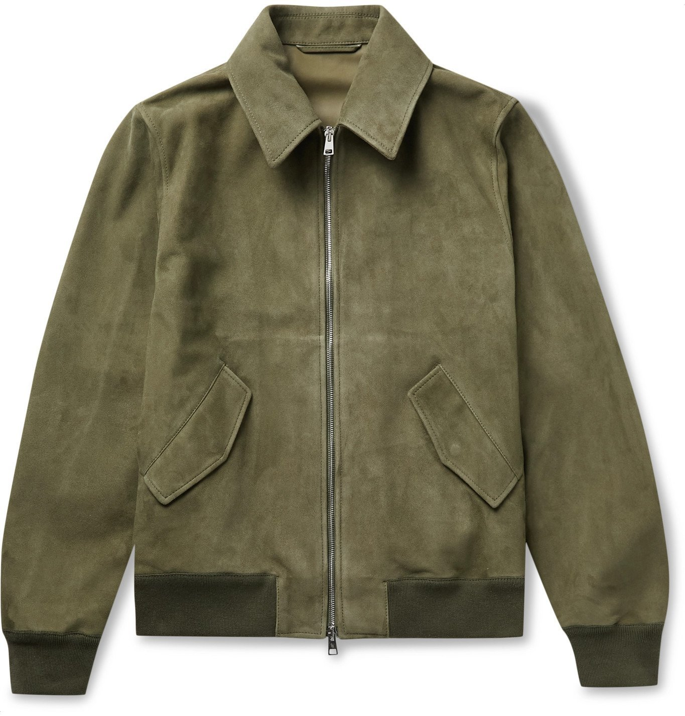Photo: Valstar - Suede Bomber Jacket - Green