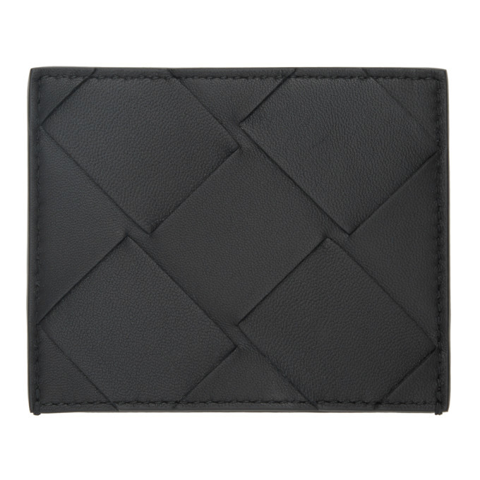 Photo: Bottega Veneta Black Maxi Intrecciato Card Holder