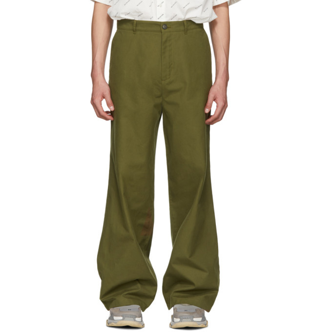 Photo: Balenciaga Khaki Baggy Trousers
