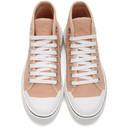 Stella McCartney Pink Canvas High Top Sneakers