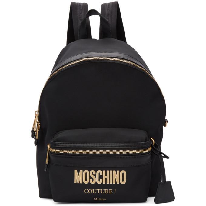 Photo: Moschino Black Logo Backpack