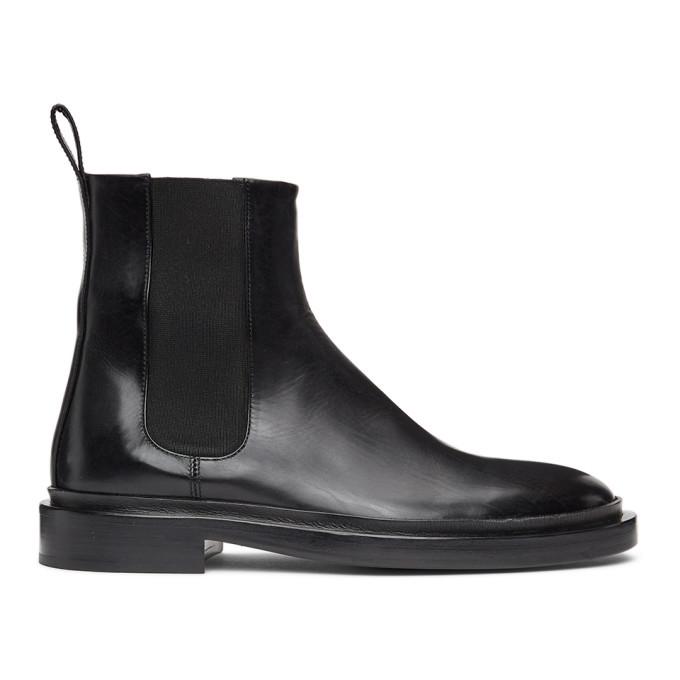 Photo: Jil Sander Black Leather Chelsea Boots