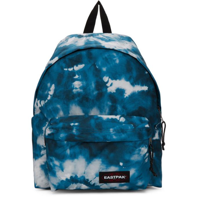 Photo: Eastpak SSENSE Exclusive Blue Tie Dye Padded Pakr Backpack