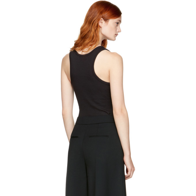 alexanderwang.t Black Sleeveless Ribbed Bodysuit