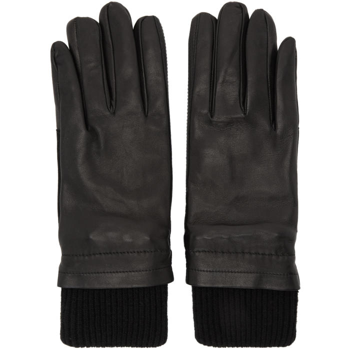 Photo: AMI Alexandre Mattiussi Black Rib Cuff Gloves