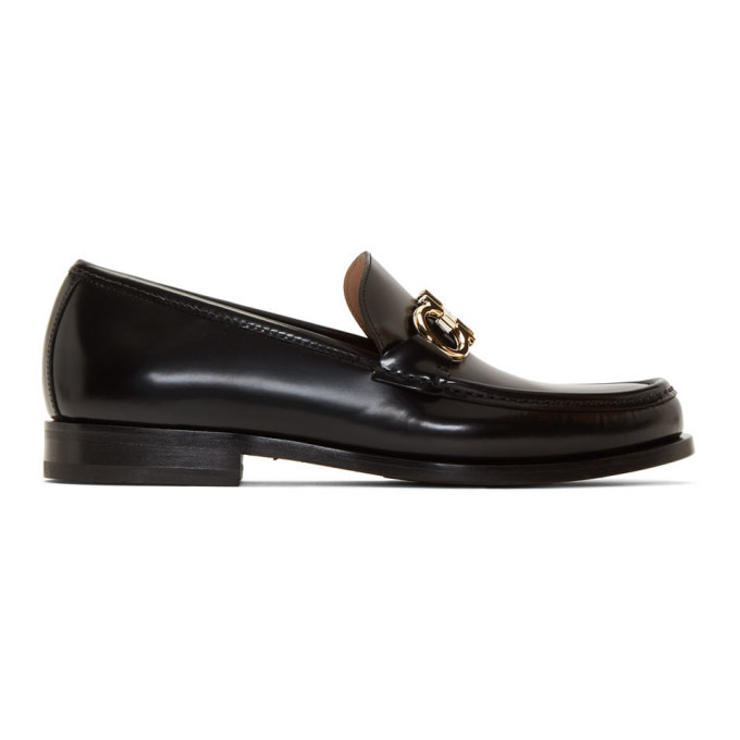 Photo: Salvatore Ferragamo Black Rolo Loafers