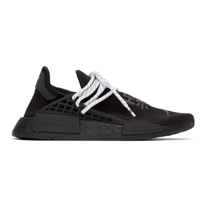 Photo: adidas Originals x Pharrell Williams Black HU NMD Low-Top Sneakers