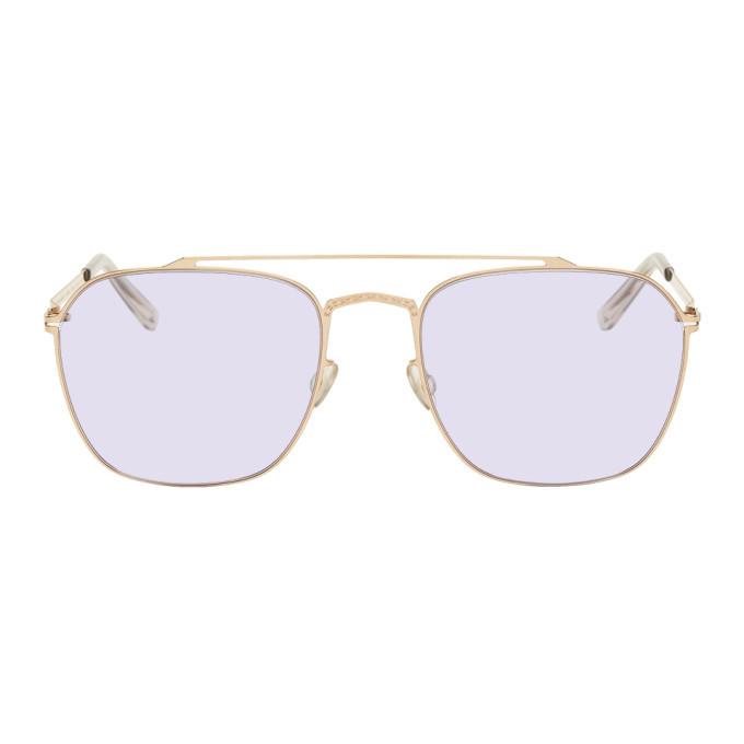 Photo: Maison Margiela Gold Mykita Edition MMCRAFT0065 Sunglasses