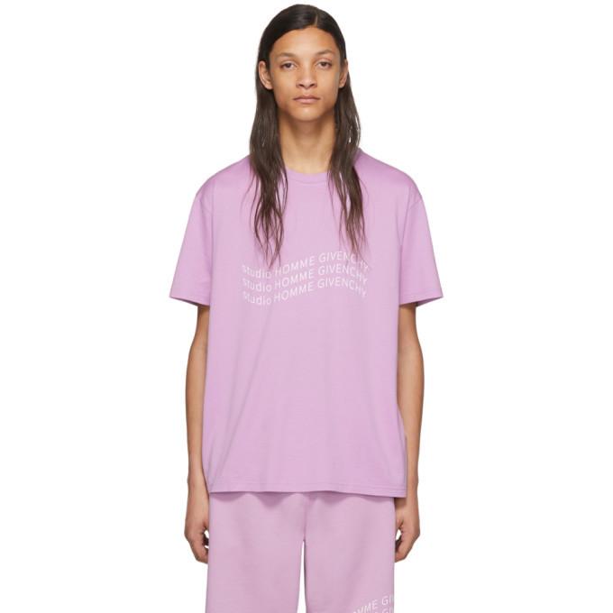 Photo: Givenchy Purple Logo Wave T-Shirt