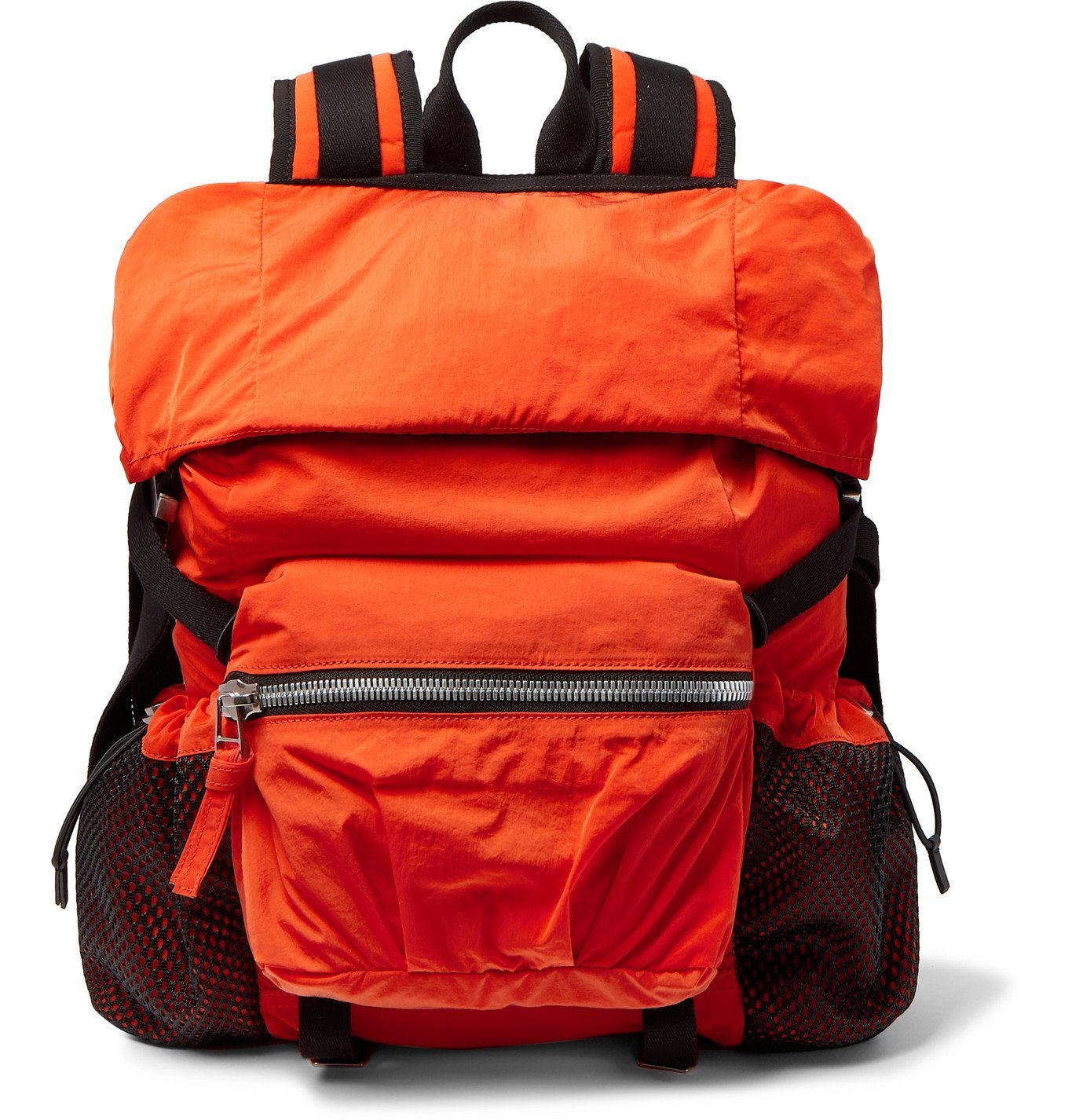 Photo: Bottega Veneta - Webbing-Trimmed Shell Backpack - Orange