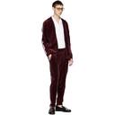 adidas Originals Maroon Velour BB Track Jacket