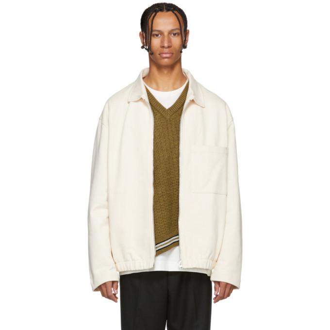 Photo: Lemaire White Jersey Jacket