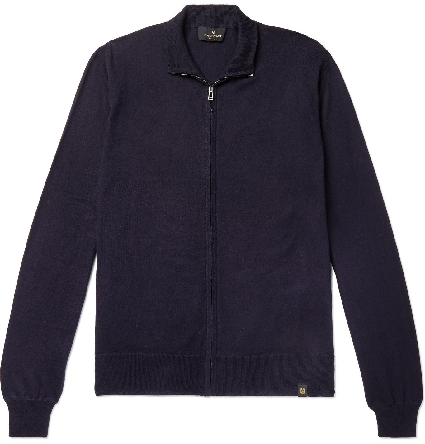 Belstaff - Slim-Fit Cotton and Cashmere-Blend Zip-Up Cardigan - Blue