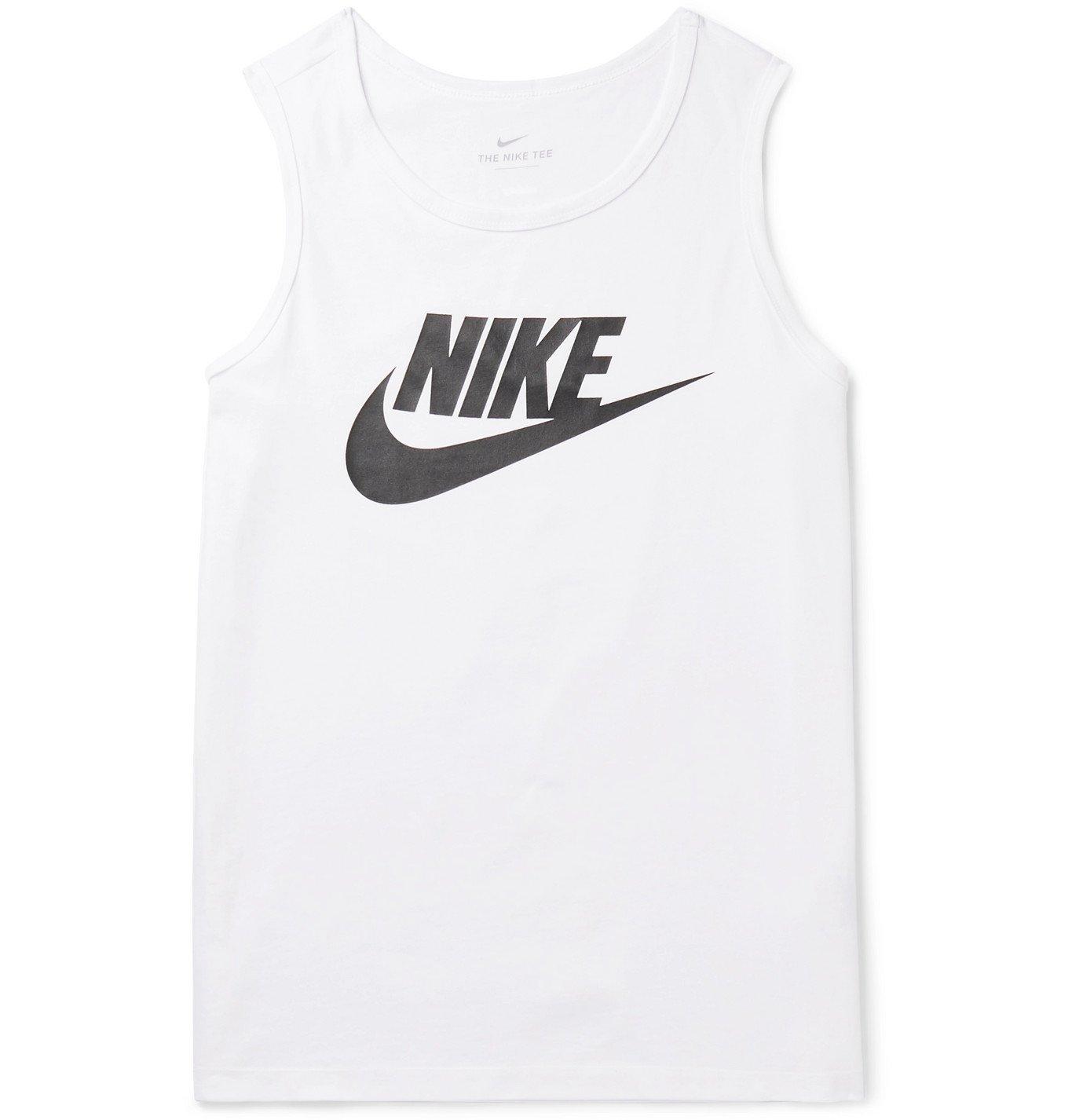 Photo: Nike - Sportswear Logo-Print Cotton-Jersey Tank Top - White