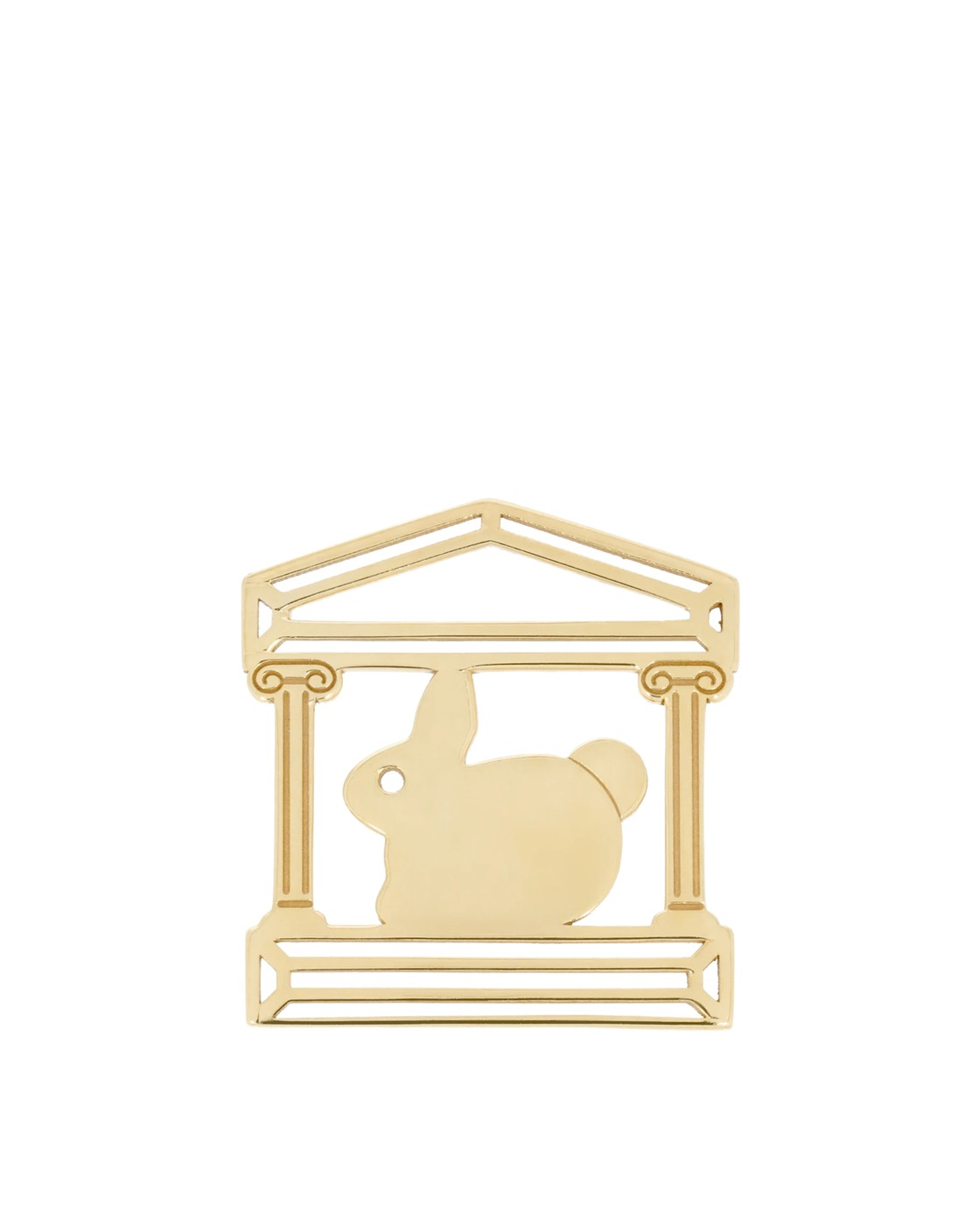 Aries Bunny Temple Charm Gold