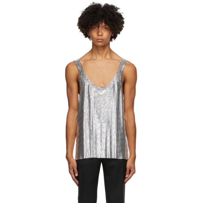 Photo: Paco Rabanne Silver Metal Chain Mail Tank Top