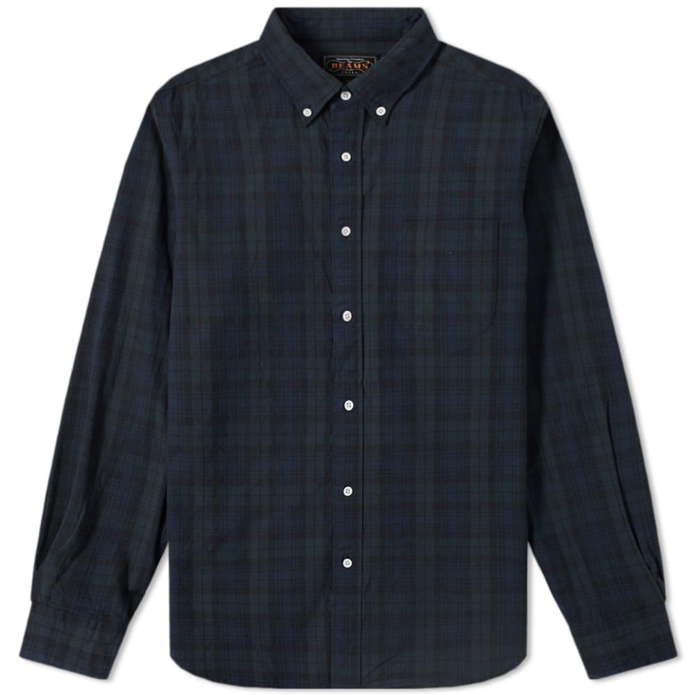 Photo: Beams Plus Button Down Black Watch Shirt