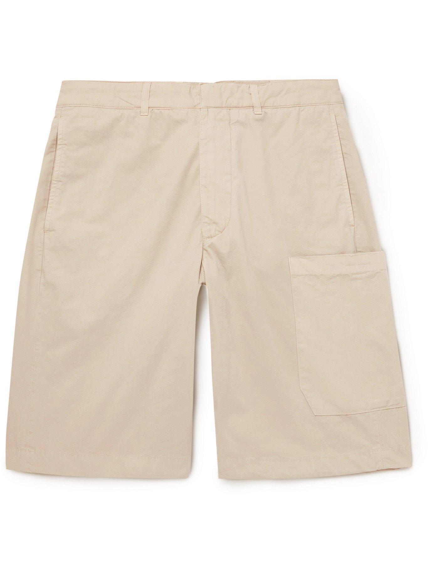 Photo: Albam - Havana Garment-Dyed Cotton-Twill Shorts - Neutrals