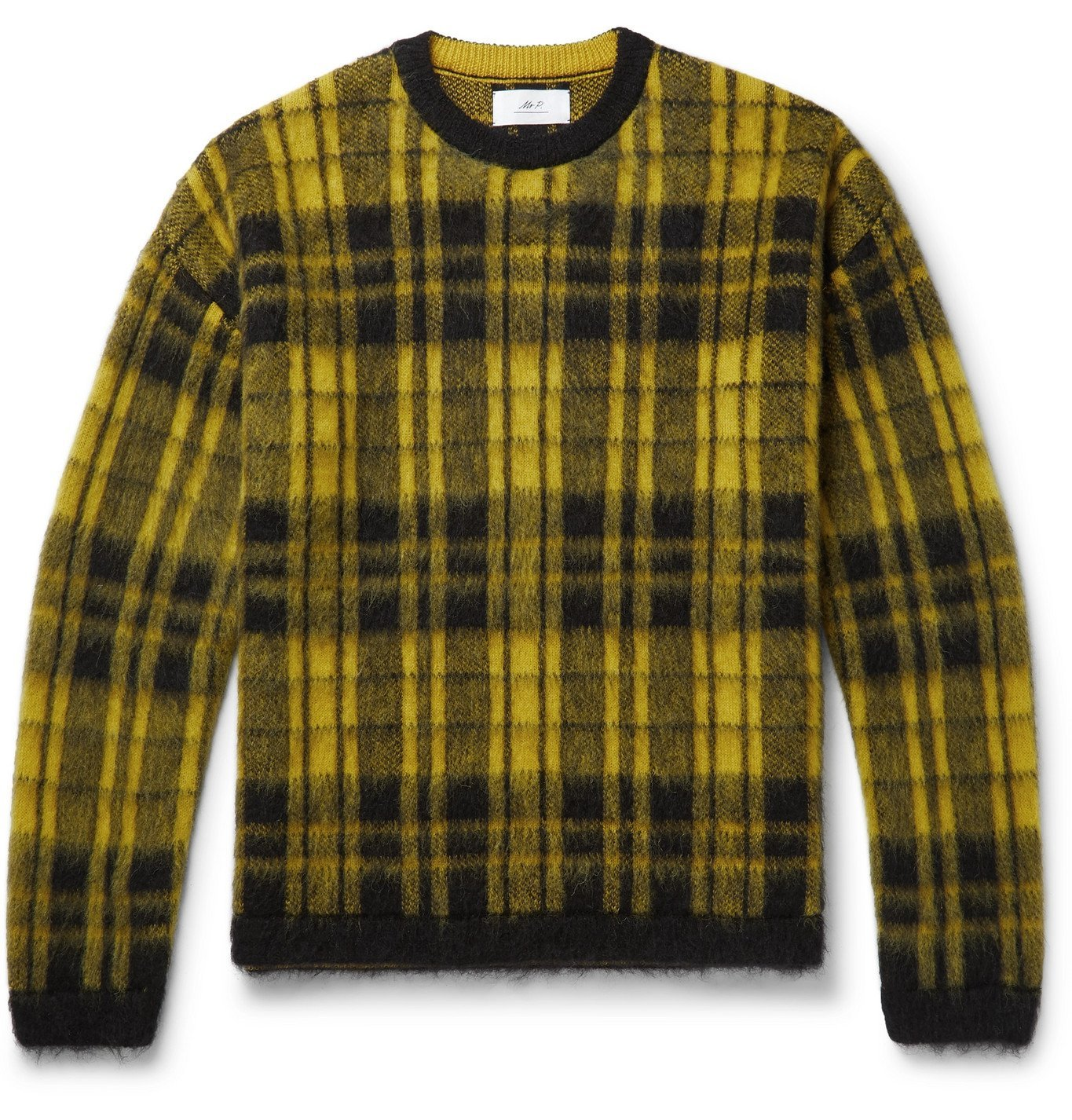 Photo: Mr P. - Checked Knitted Sweater - Yellow