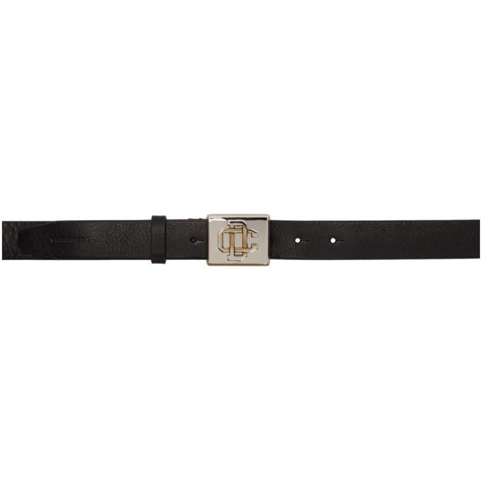 Photo: Dsquared2 Black Vintage DC Plaque Belt