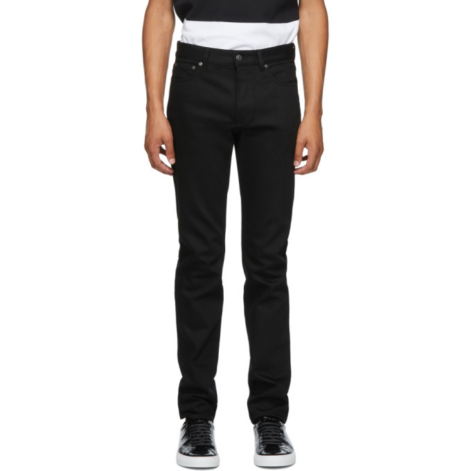 Photo: Givenchy Black Raw Edge Slim-Fit Jeans