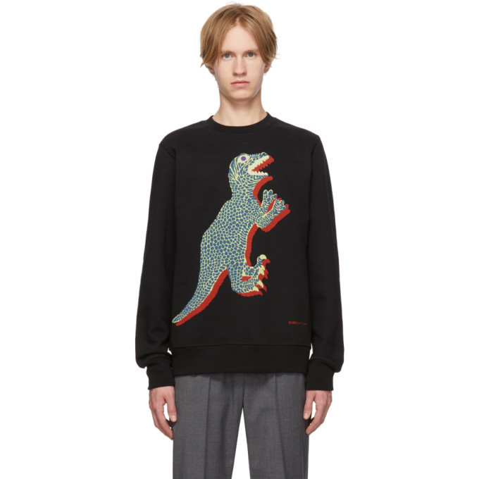 Photo: PS by Paul Smith Black Dino Regular Fit Sweatshirt