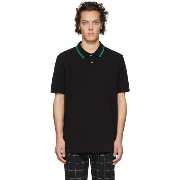 Photo: PS by Paul Smith Black Regular Fit Polo