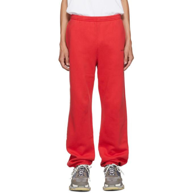 Photo: Balenciaga Red Small Logo Lounge Pants