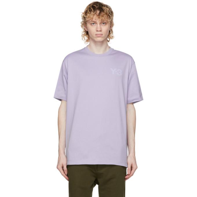 Photo: Y-3 Purple Classic Chest Logo T-Shirt