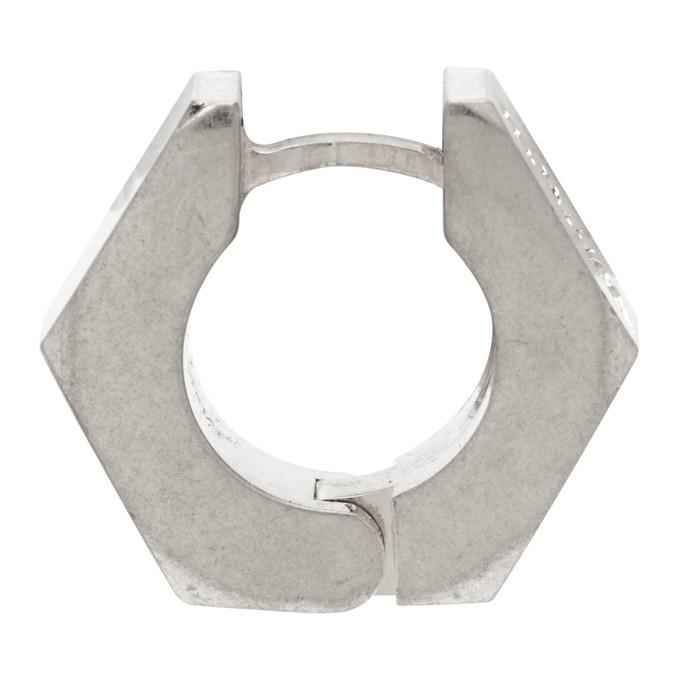 Photo: Off-White Silver Hexnut Single Earring
