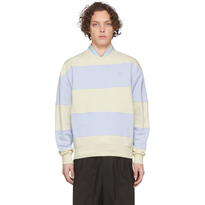 Photo: JW Anderson Blue and Off-White Striped Sweatshirt