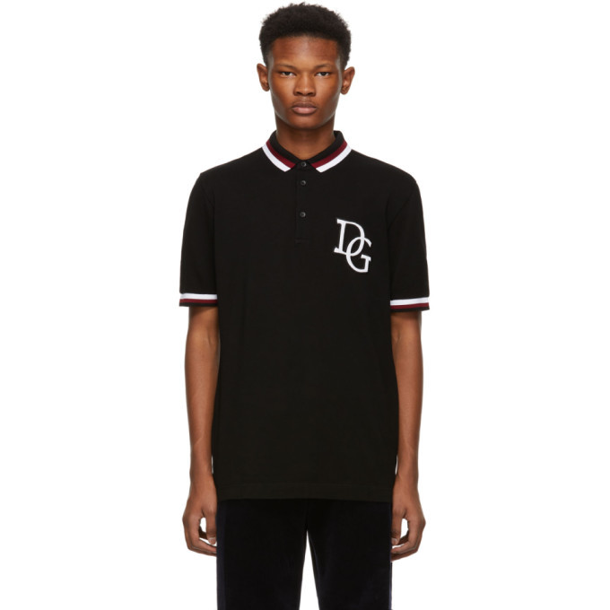 Photo: Dolce and Gabbana Black Logo Polo