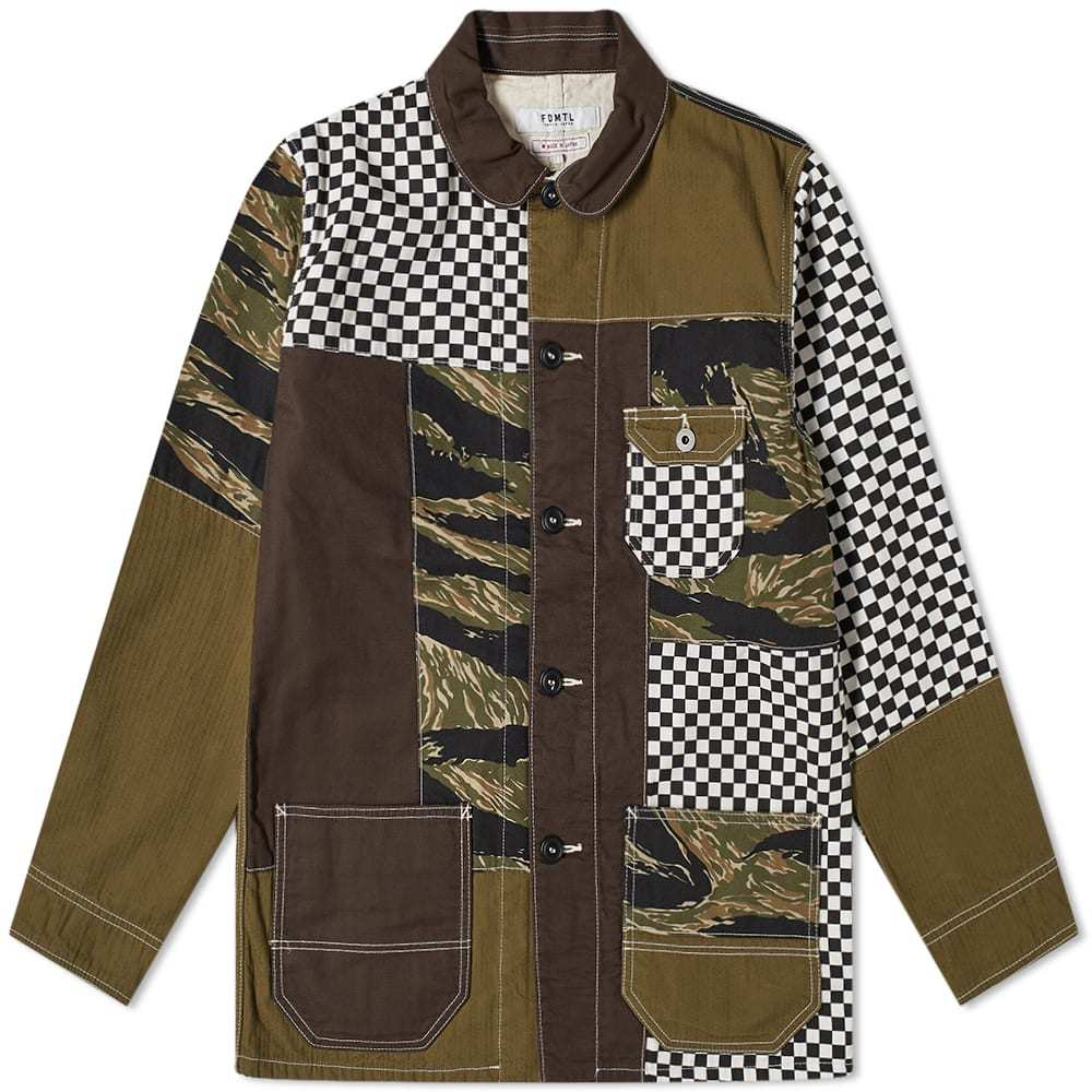 Photo: FDMTL Boro Patchwork Coverall Jacket