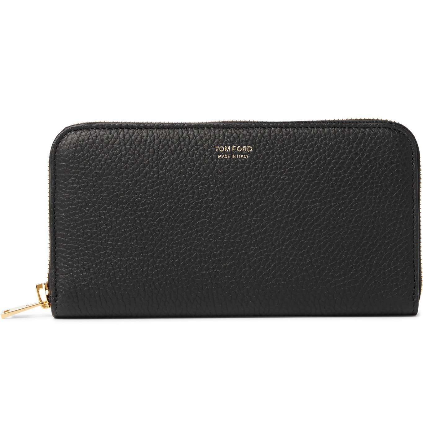 Photo: TOM FORD - Full-Grain Leather Zip-Around Wallet - Black